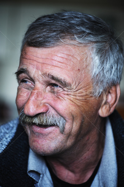 пожилого положительный человека усы счастливым улыбаясь Сток-фото © zurijeta