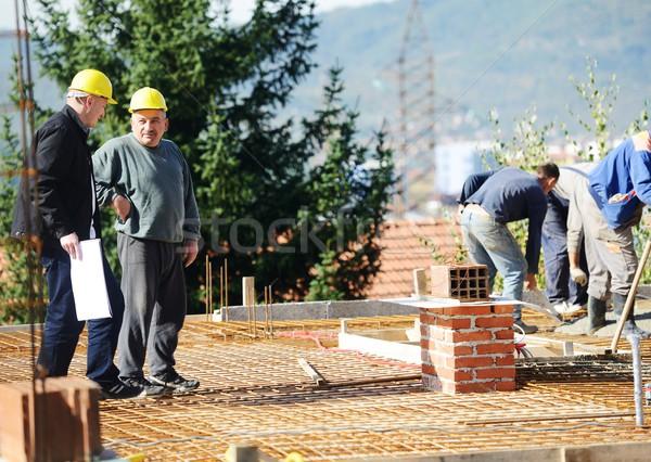 Travail bâtiment projet construction industrie Photo stock © zurijeta
