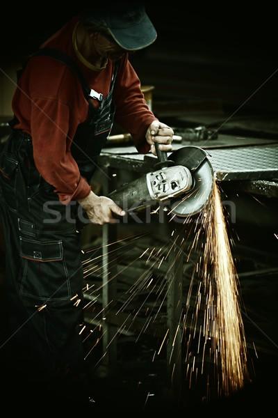 Travailleur fer professionnels outil industrielle Photo stock © zurijeta