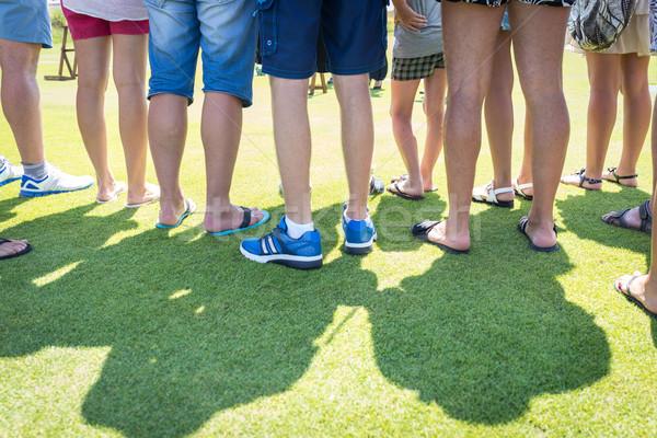 People feet on green grass Stock photo © zurijeta
