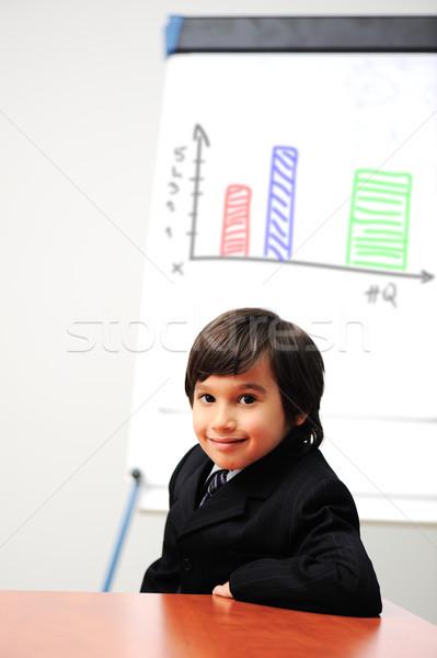 Stockfoto: Weinig · kid · tekening · diagram · toekomst