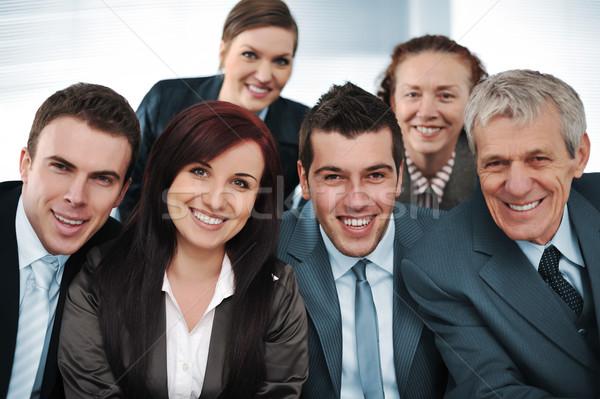 Altı ofis gülümseme mutlu Stok fotoğraf © zurijeta