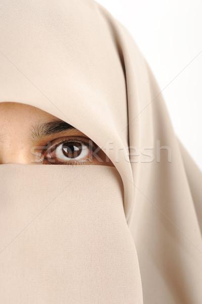 Close-up of a woman with hijab Stock photo © zurijeta
