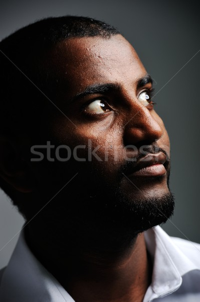 African man, nice photo Stock photo © zurijeta