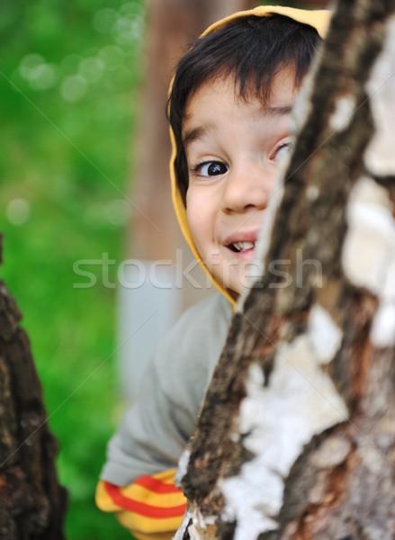 happy children in nature outdoor  Stock photo © zurijeta