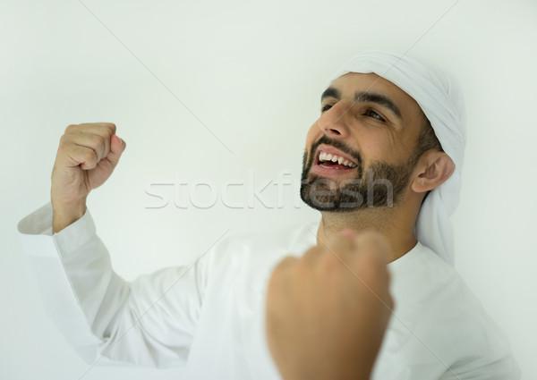 Attractive arabic man of Gulf Stock photo © zurijeta