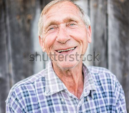 Stock photo: Happy smiling elder senior man portrait
