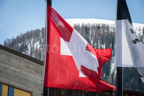 Foto stock: Suíça · casa · edifício · cidade · floresta · montanha