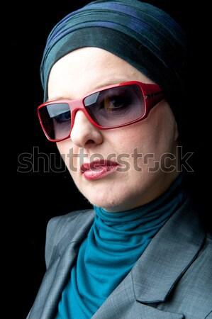 Gyönyörű európai muszlim nő boldog portré Stock fotó © zurijeta