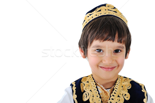 Portrait of a well-dressed middle-eastern kid Stock photo © zurijeta