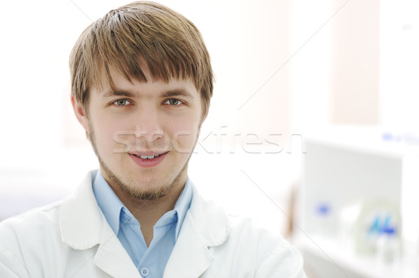 Portrait of young researcher in the lab, hospital worker smiling face Stock photo © zurijeta
