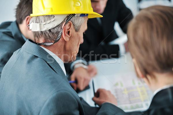 Сток-фото: старший · исполнительного · будущем · строительство · планов