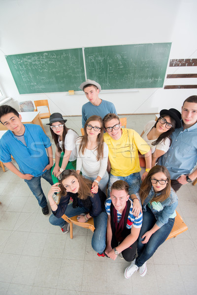 Group of classmates from above Stock photo © zurijeta