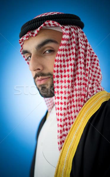 Retrato atraente Árabe homem robe árabe Foto stock © zurijeta