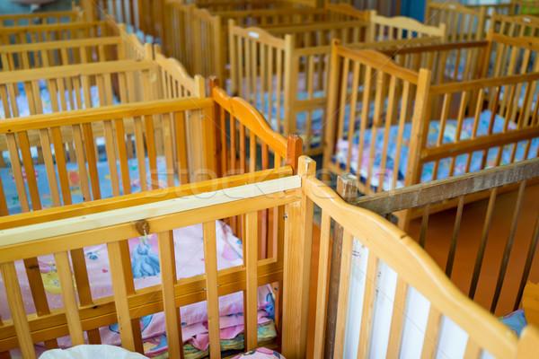 Beds in bedroom for kids Stock photo © zurijeta
