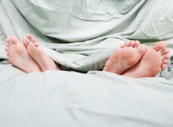 Stock photo: Separation in bed before divorce