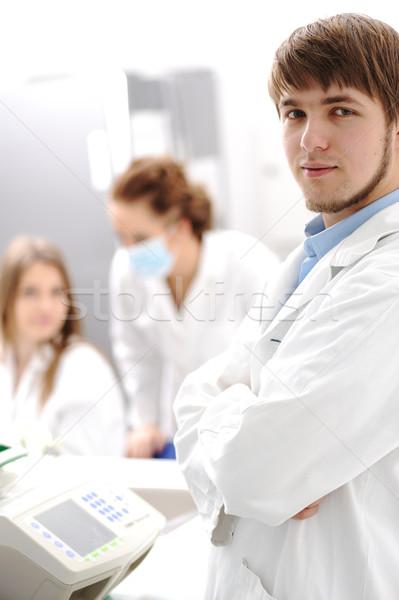 Сток-фото: внутри · современных · лаборатория · университета · больницу · молодые