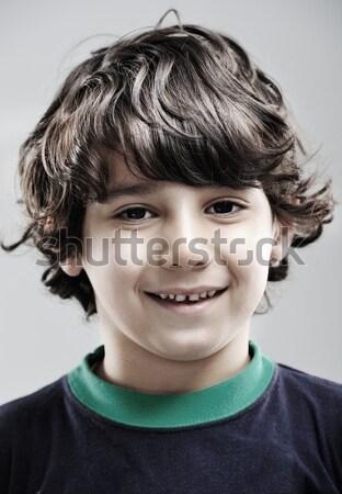 Közelkép portré igazi gyermek gyerek haj Stock fotó © zurijeta