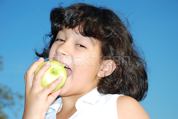 apple girl Stock photo © zurijeta