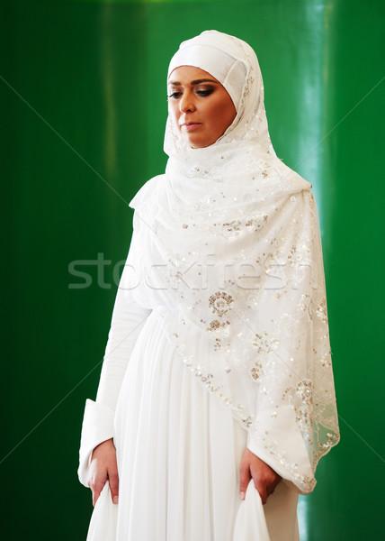 красивой молодые невеста свадьба лице Сток-фото © zurijeta