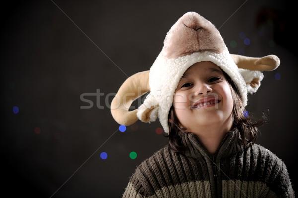 Stock fotó: Portré · aranyos · kicsi · fiú · retró · stílus · autentikus