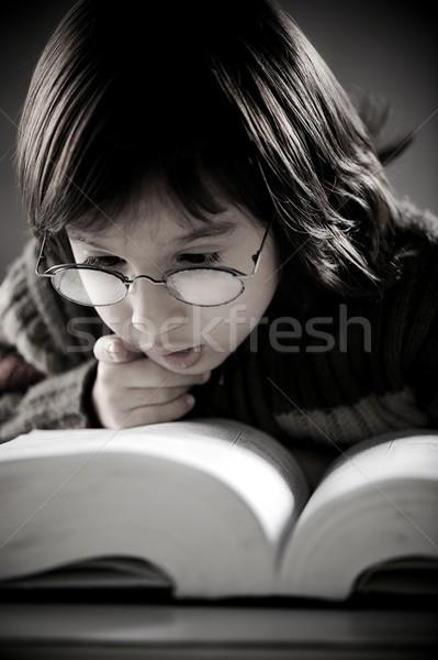 Portré aranyos kicsi fiú retró stílus retro Stock fotó © zurijeta