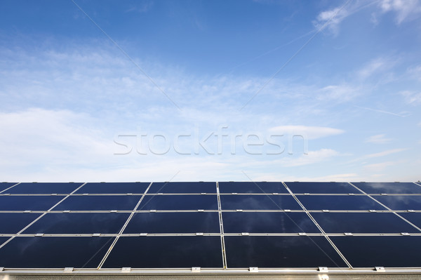 Solar panels energy field Stock photo © zurijeta