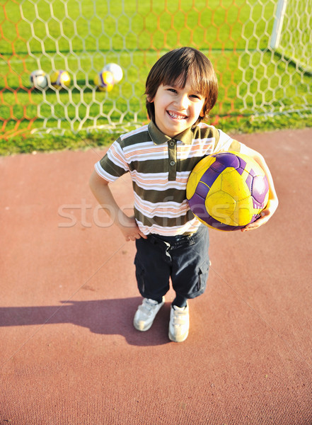 молодые Kid Футбол спорт фитнес Сток-фото © zurijeta