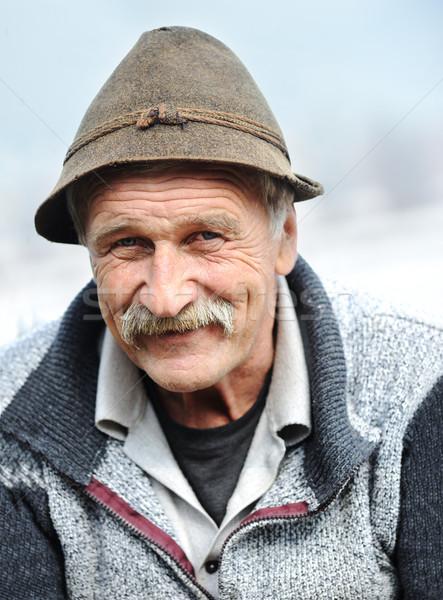 Artistique photo homme gris Photo stock © zurijeta