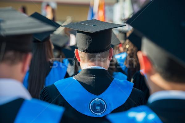 Achteraanzicht afgestudeerde studenten groep ceremonie business Stockfoto © zurijeta