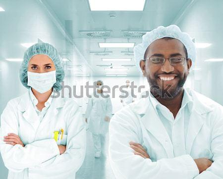 Stok fotoğraf: Bilim · adamları · Arapça · takım · modern · hastane · laboratuvar