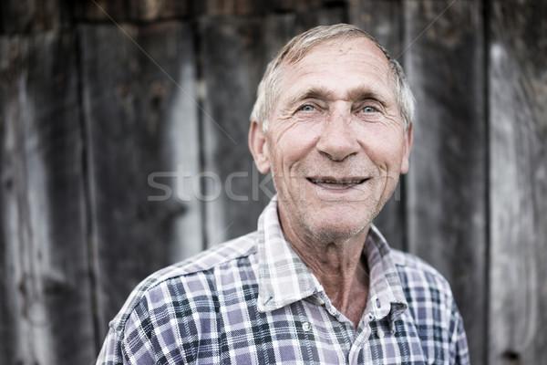 Kıdemli adam açık havada portre sağlık arka plan Stok fotoğraf © zurijeta