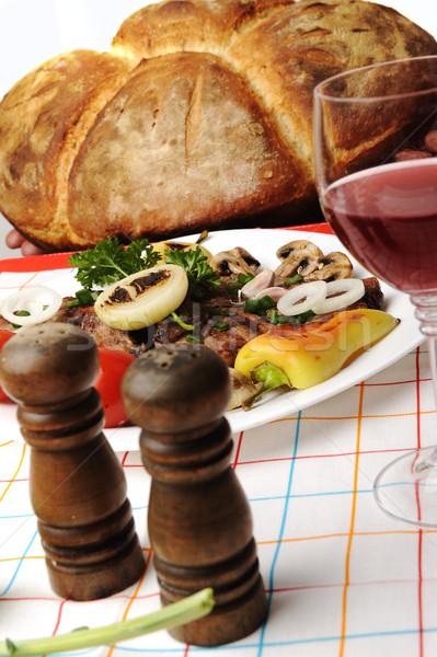 Przygotowany odznaczony żywności tabeli pieprz Zdjęcia stock © zurijeta