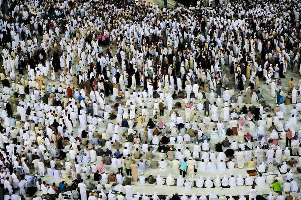 Alle rond wereld bidden Saoedi-Arabië god Stockfoto © zurijeta