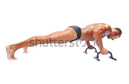 Man doing push-ups. Stock photo © zurijeta