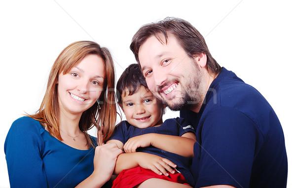 счастливая семья дерево счастливым ребенка портрет мальчика Сток-фото © zurijeta