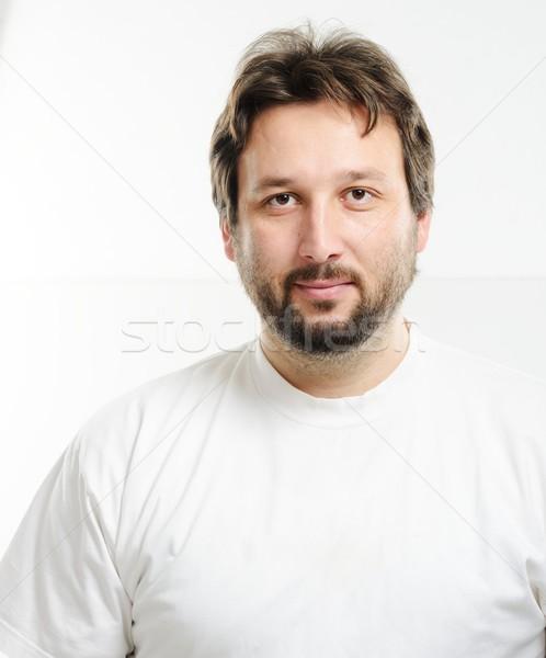 портрет 30 лет старик борода лице человека Сток-фото © zurijeta