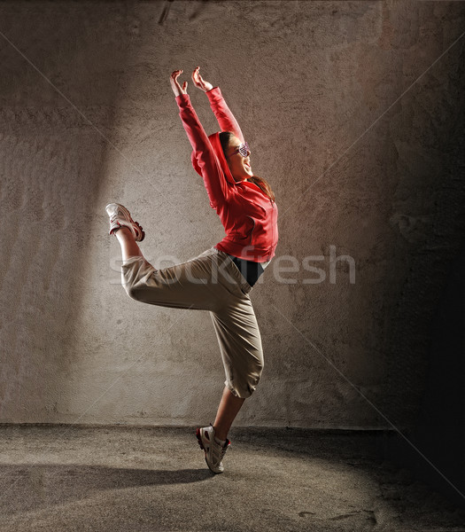 Foto stock: Jóvenes · femenino · baile · danza · mujer · nina