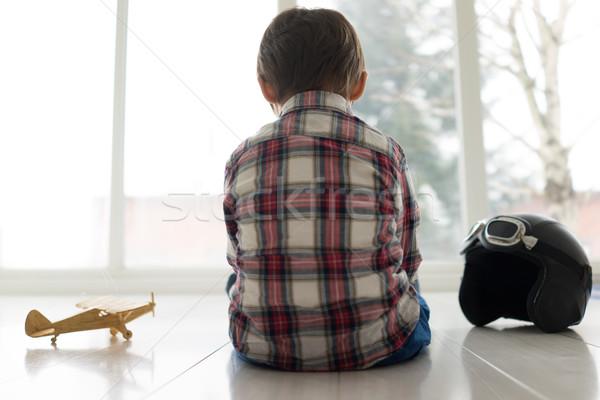 Boldog kicsi gyerek portré gyermek arc Stock fotó © zurijeta