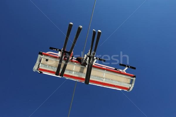 Céu elevador esportes montanha inverno Foto stock © zurijeta