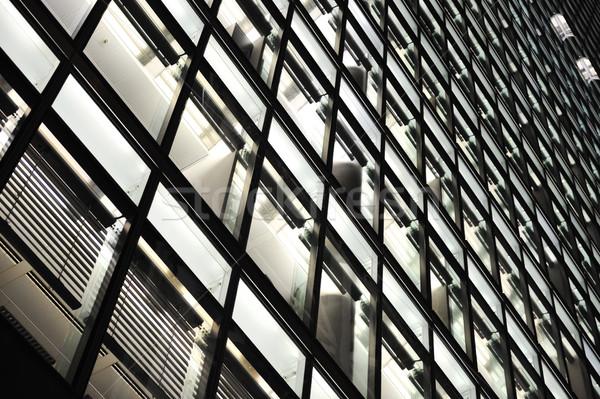 Edifício moderno cena noturna céu edifício cidade abstrato Foto stock © zurijeta