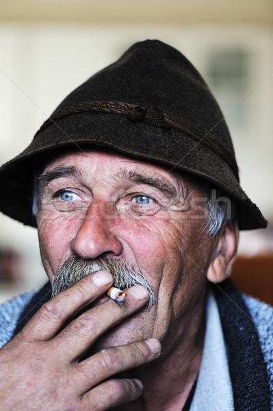 художественный фото человека серый Сток-фото © zurijeta