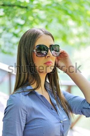 Сток-фото: курение · сигарету · женщину · стороны · лице