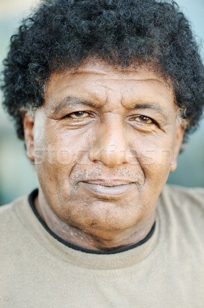 Old African American black face of a man Stock photo © zurijeta