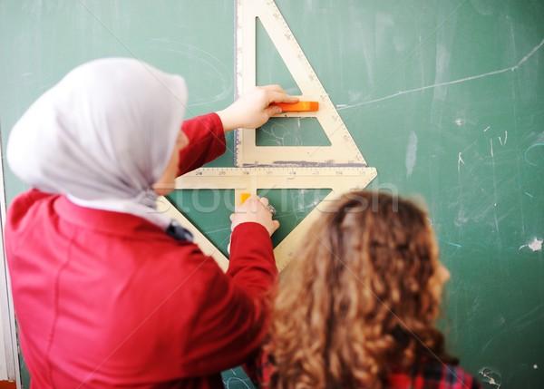 Cute классе образование деятельность женщину Сток-фото © zurijeta