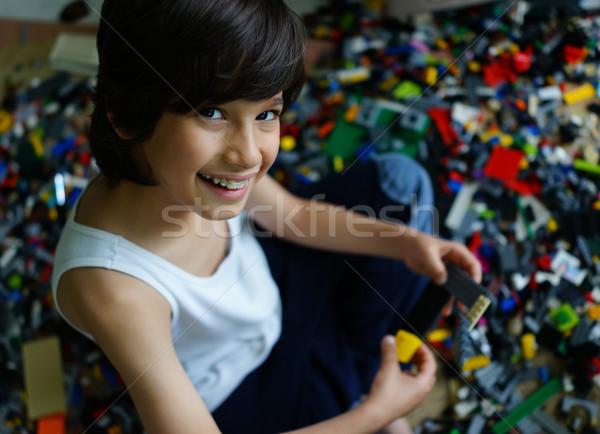 ребенка играет строительство блоки Kid кадр Сток-фото © zurijeta