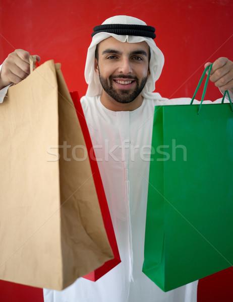 Portrait of attractive Arab man in Gulf Stock photo © zurijeta