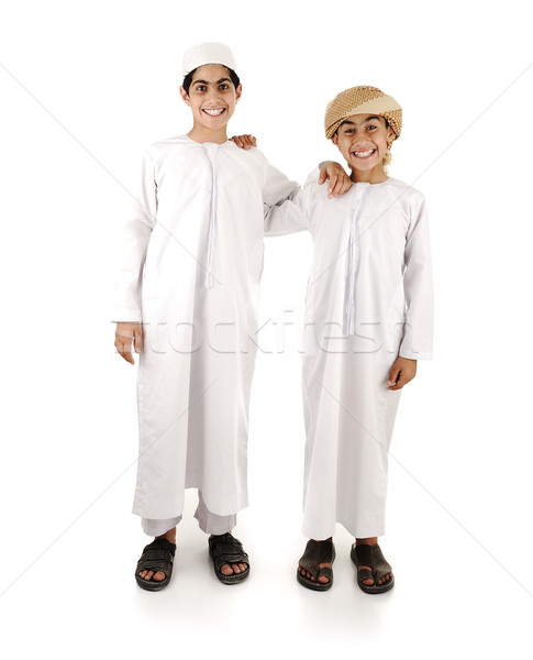 Two arabic friends isolated Stock photo © zurijeta