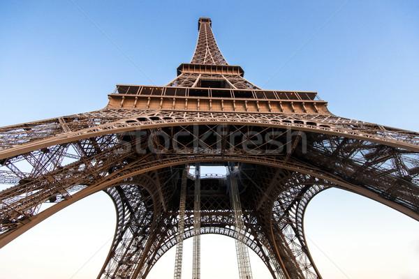 Eiffel Tower from below Stock photo © zurijeta