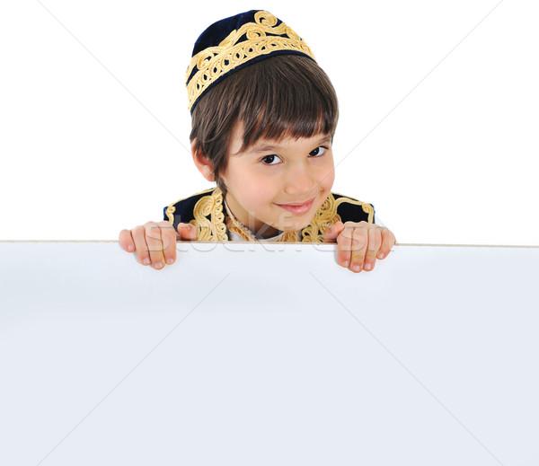 Сток-фото: счастливым · Kid · мальчика · текста · Пасху · пространстве